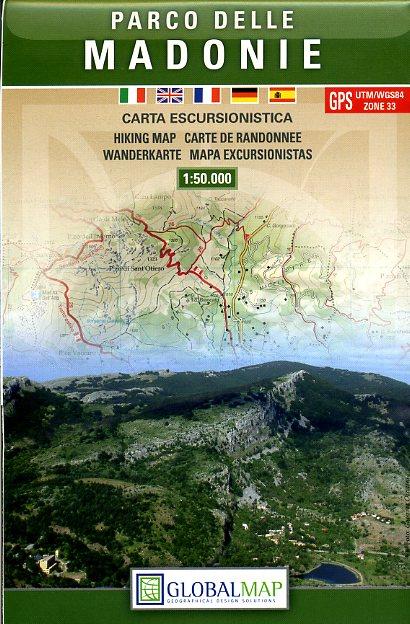 LAC10 Parco delle Madonie 1:50.000 9788879144933  Global Map   Wandelkaarten Sicilië