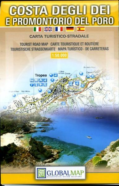 Costa degli Dei 1:50.000 9788879145015  Global Map   Wandelkaarten Calabrië & Basilicata