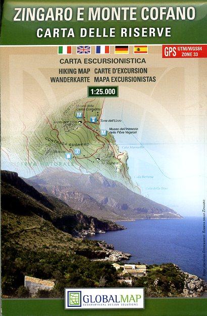 Zingaro e Monte Cofano (Riserve) 1:25.000 9788879145084  Global Map   Wandelkaarten Sicilië