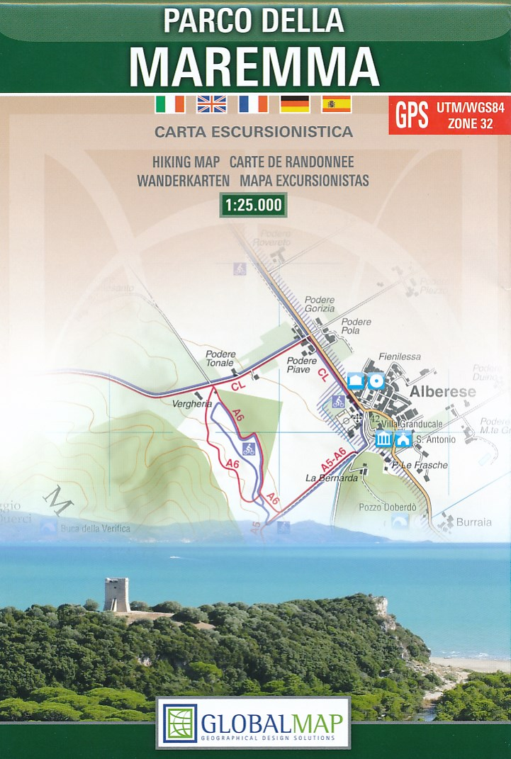 Parco della Maremma 1:25.000 9788879146746  Global Map   Wandelkaarten Toscane, Florence
