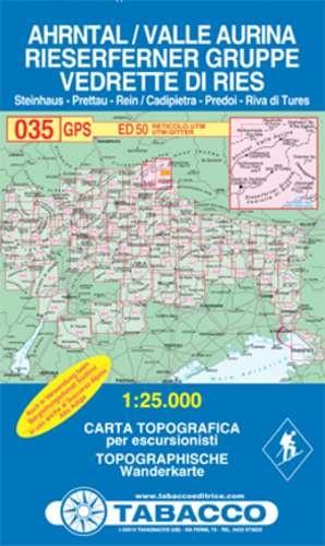 TAB-035  Ahrntal, Rieserfernergruppe | Tabacco wandelkaart 9788883150357  Tabacco Tabacco 1:25.000  Wandelkaarten Zuid-Tirol, Dolomieten