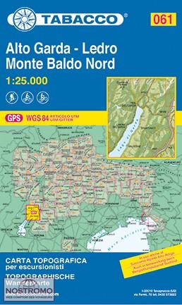 TAB-61 Alto Garda, Ledro, Monte Baldo Nord | Tabacco wandelkaart 9788883151057  Tabacco Tabacco 1:25.000  Wandelkaarten Gardameer