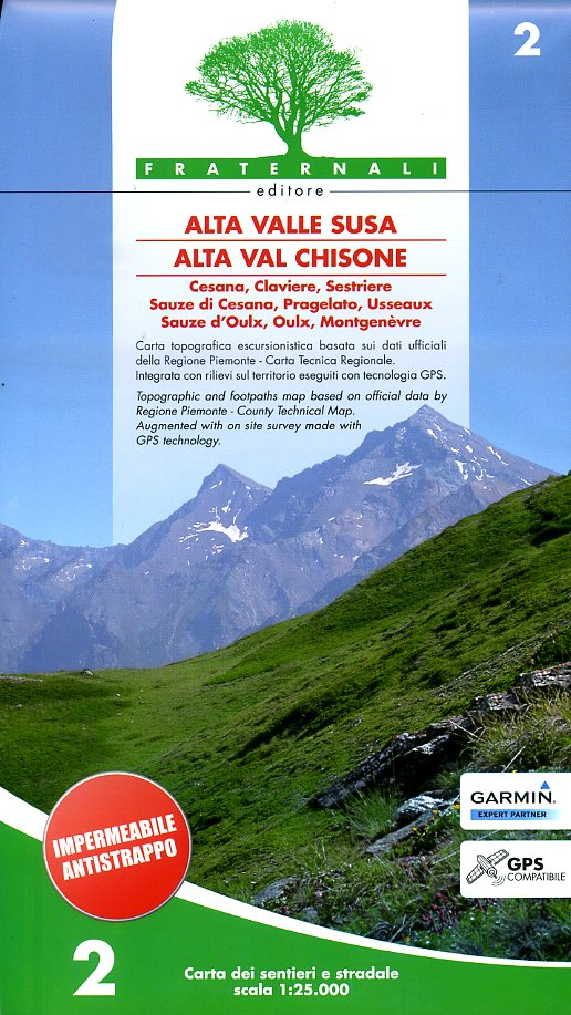 FRA-02 Alta Valle Susa Alta Val Chisone | wandelkaart 1:25.000 9788890278419  Fraternali Editore Fraternali 1:25.000  Wandelkaarten Turijn, Piemonte