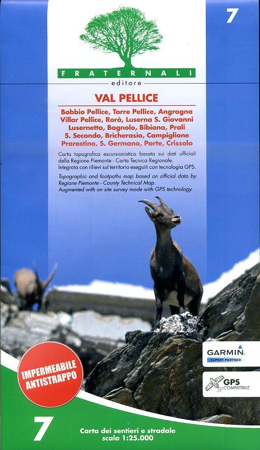 FRA-07  Val Pellice | wandelkaart 1:25.000 9788890278471  Fraternali Editore   Wandelkaarten Turijn, Piemonte