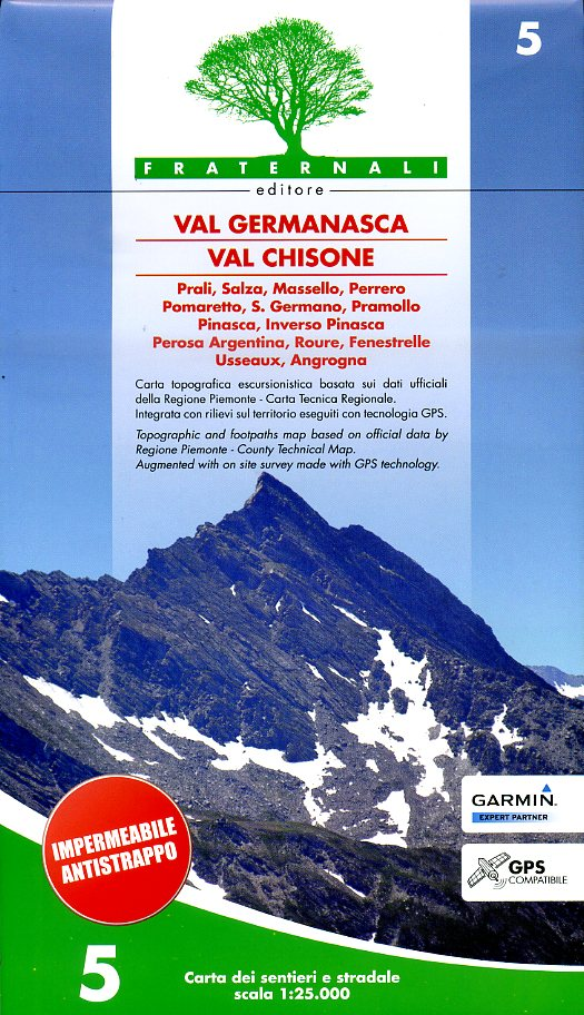 FRA-05  Val Germanasca Val Chisone | wandelkaart 1:25.000 9788890278488  Fraternali Editore   Wandelkaarten Turijn, Piemonte