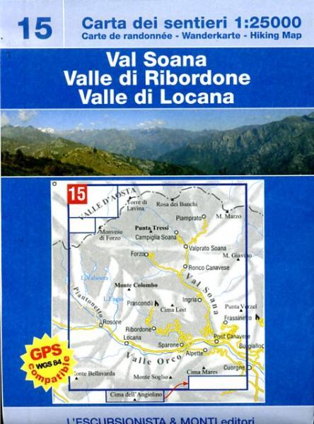 ESC-15  Val Soana | wandelkaart 1:25.000 9788890391866  Escursionista Carta dei Sentieri 1:25.000  Wandelkaarten Turijn, Piemonte
