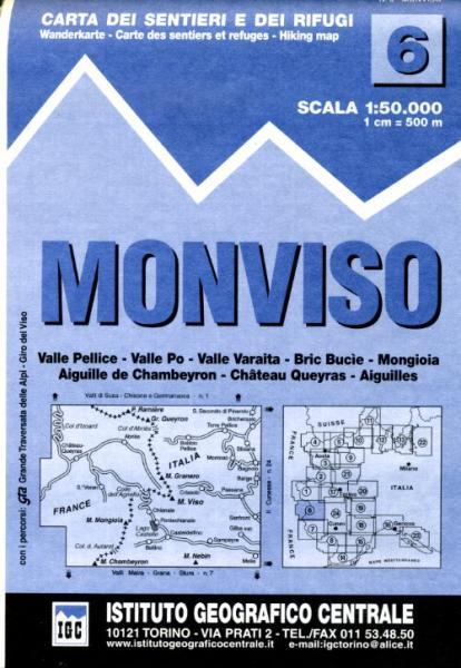 IGC-06: Monviso (Monte Viso) 9788896455067  IGC IGC: 1:50.000  Wandelkaarten Turijn, Piemonte