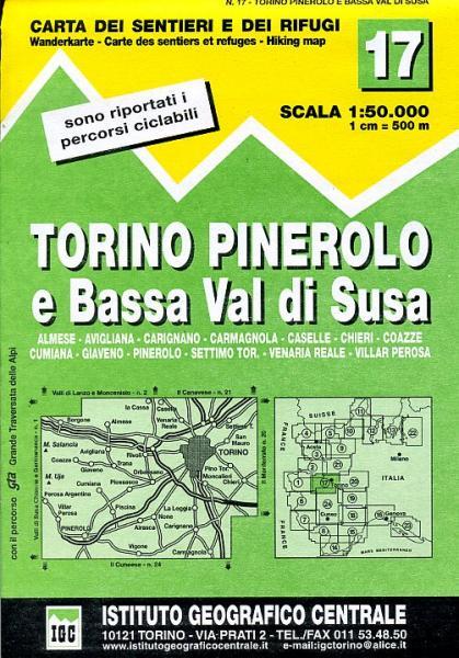 IGC-17: Torino-Pinerolo e Bassa Val di Susa 9788896455173  IGC IGC: 1:50.000  Wandelkaarten Turijn, Piemonte