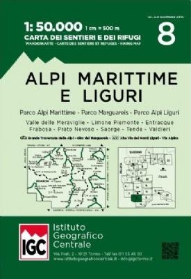 IGC-08: Alpi Marittime e Liguri 9788896455630  IGC IGC: 1:50.000  Wandelkaarten Genua, Ligurië