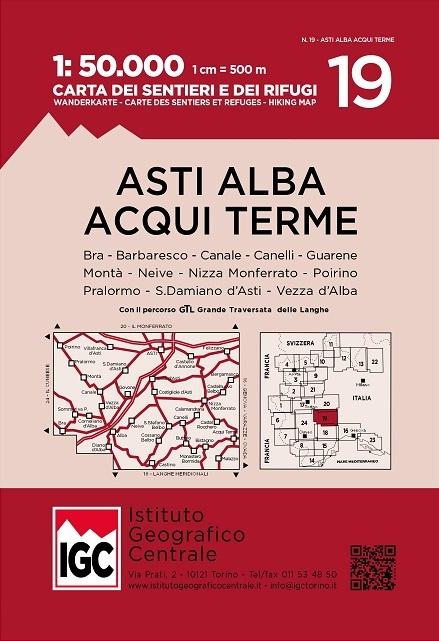 IGC-19: Asti - Alba - Acqui Terme 9788896455661  IGC IGC: 1:50.000  Wandelkaarten Turijn, Piemonte