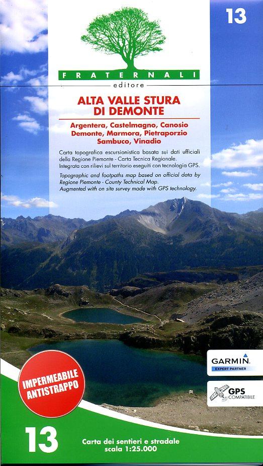 FRA-13  Alta Valle Stura di Demonte | wandelkaart 1:25.000 9788897465089  Fraternali Editore Fraternali 1:25.000  Wandelkaarten Turijn, Piemonte