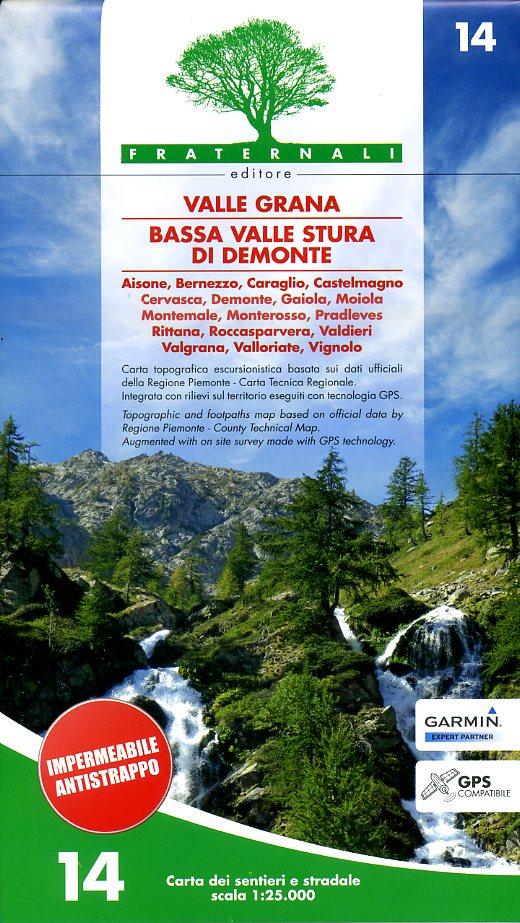 FRA-14  Valle Grana | wandelkaart 1:25.000 9788897465102  Fraternali Editore   Wandelkaarten Turijn, Piemonte