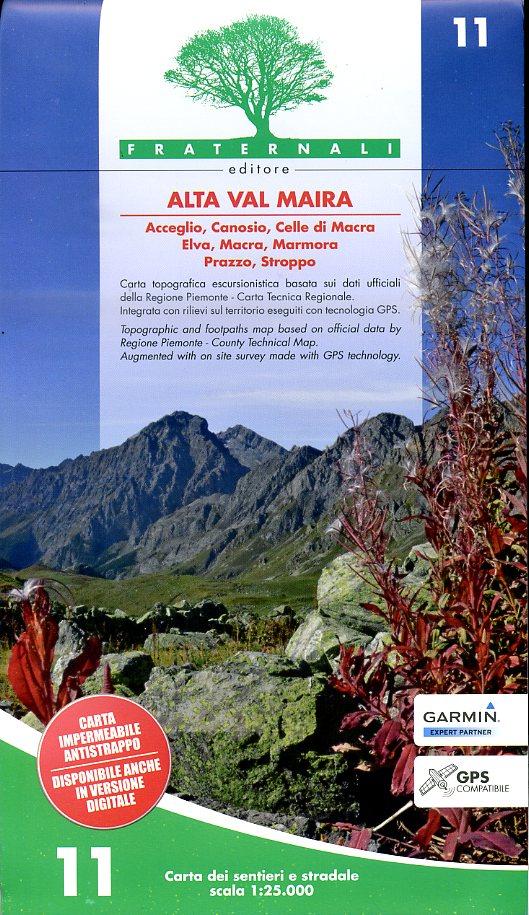 FRA-11  Alta Val Maira | wandelkaart 1:25.000 9788897465133  Fraternali Editore   Wandelkaarten Turijn, Piemonte