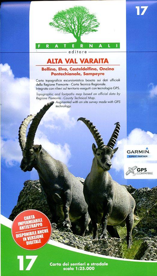 FRA-17  Alta Val Varaita | wandelkaart 1:25.000 9788897465157  Fraternali Editore   Wandelkaarten Turijn, Piemonte