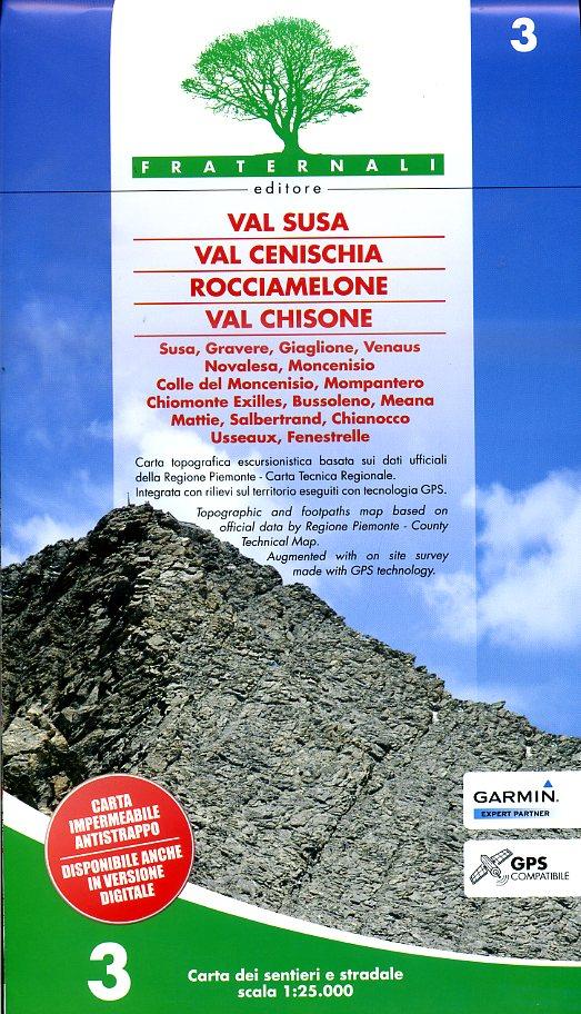 FRA-03  Val Susa - Val Cenischia | wandelkaart 1:25.000 9788897465201  Fraternali Editore   Wandelkaarten Turijn, Piemonte