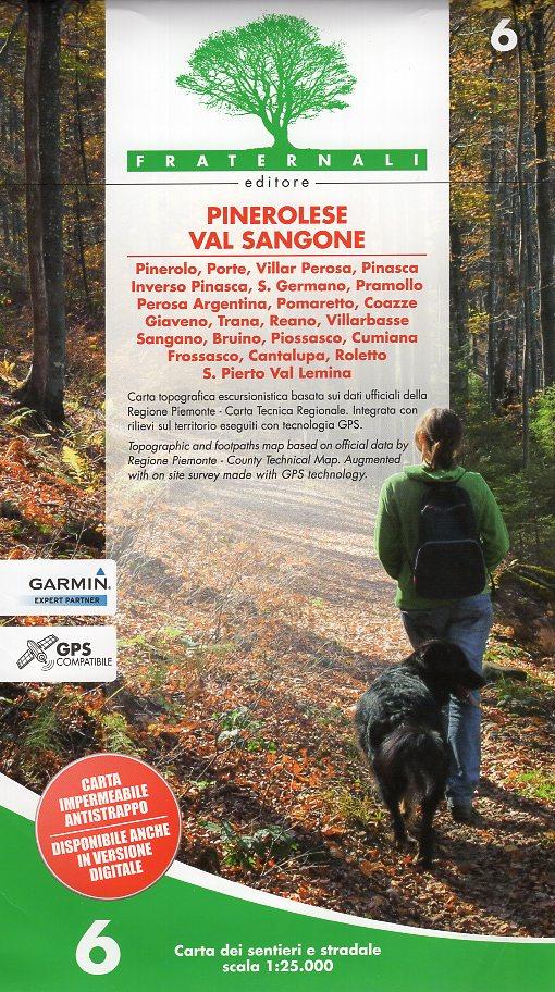 FRA-06  Pinerolese e Val Sangone | wandelkaart 1:25.000 9788897465218  Fraternali Editore   Wandelkaarten Turijn, Piemonte