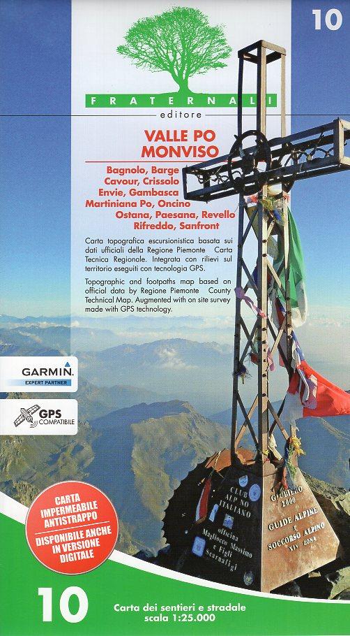 FRA-10  Valle Po, Monviso | wandelkaart 1:25.000 9788897465249  Fraternali Editore   Wandelkaarten Turijn, Piemonte