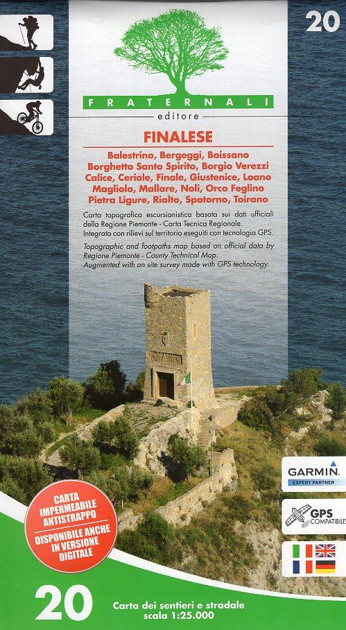 FRA-20  Finalese | wandelkaart 1:25.000 9788897465263  Fraternali Editore   Wandelkaarten Genua, Ligurië