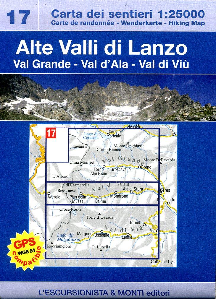 ESC-17  Alte Valli di Lanzo | wandelkaart 1:25.000 9788898520060  Escursionista Carta dei Sentieri 1:25.000  Wandelkaarten Turijn, Piemonte