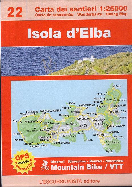 ESC-22  Isola d'Elba | wandelkaart 1:25.000 9788898520435  Escursionista Carta dei Sentieri 1:25.000  Wandelkaarten Elba
