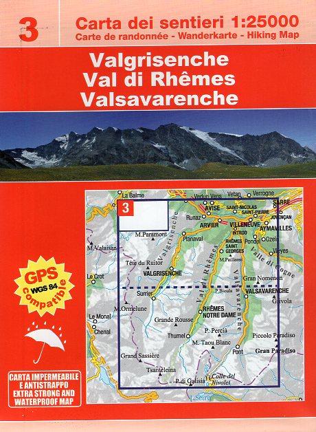 ESC-03  Val di Rhêmes, Valgrisenche | wandelkaart 1:25.000 9788898520633  Escursionista Carta dei Sentieri 1:25.000  Wandelkaarten Aosta, Gran Paradiso