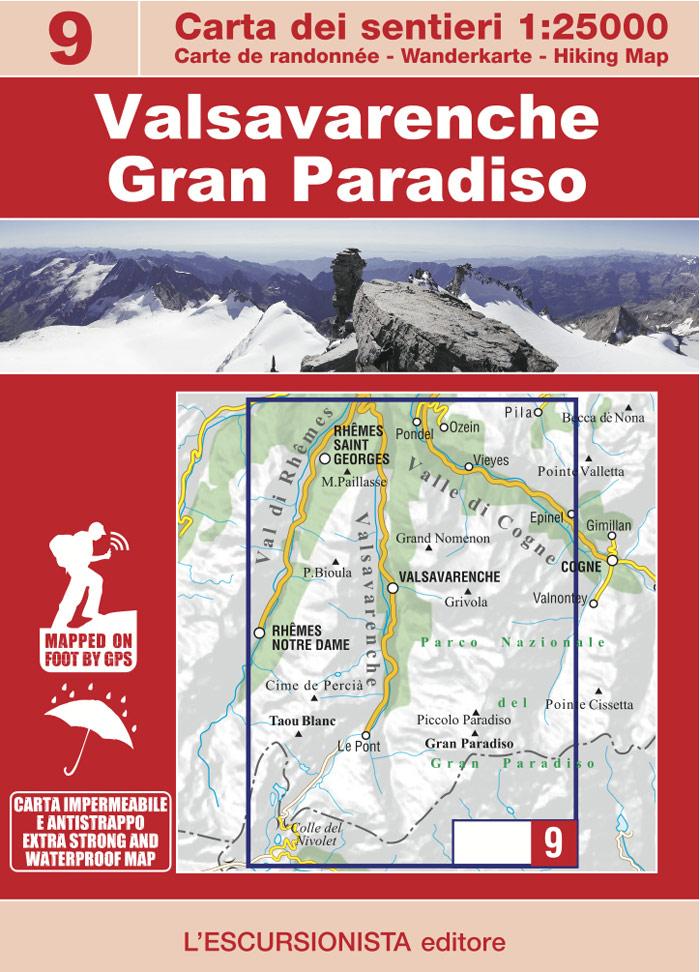 ESC-09  Valsavarenche, Gran Paradiso | wandelkaart 1:25.000 9788898520695  Escursionista Carta dei Sentieri 1:25.000  Wandelkaarten Aosta, Gran Paradiso