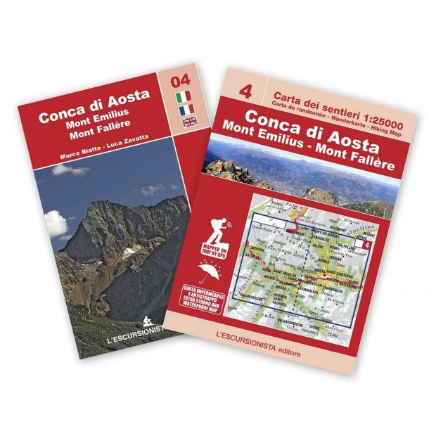 ESC-04  Conca di Aosta, Mont Emilius | wandelkaart 1:25.000 9788898520718  Escursionista Carta dei Sentieri 1:25.000  Wandelkaarten Aosta, Gran Paradiso