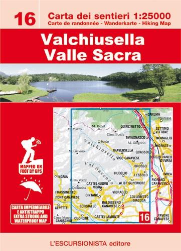 ESC-16  Valchiusella, Valle Sacra | wandelkaart 1:25.000 9788898520756  Escursionista Carta dei Sentieri 1:25.000  Wandelkaarten Turijn, Piemonte