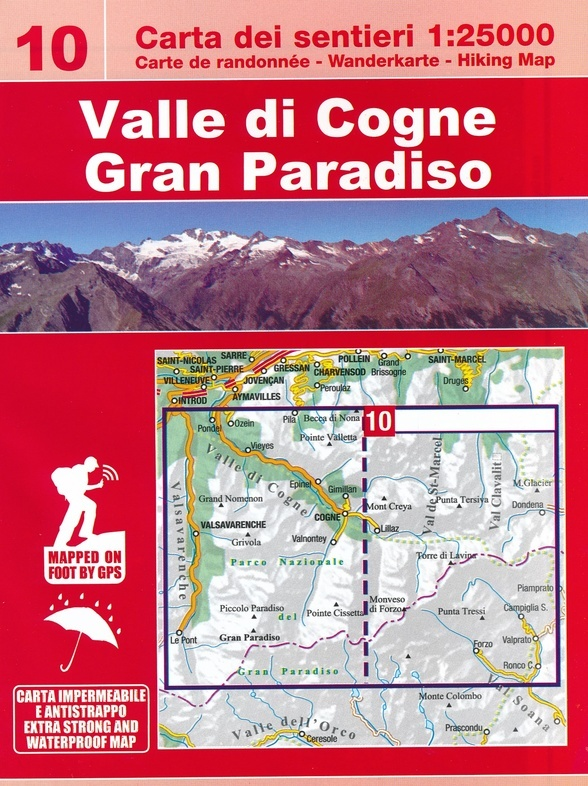ESC-10 Valle di Cogne, Gran Paradiso | wandelkaart 1:25.000 9788898520817  Escursionista Carta dei Sentieri 1:25.000  Wandelkaarten Aosta, Gran Paradiso