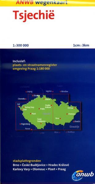 Tsjechië 1:300.000 9789018036607  ANWB Wegenkaarten  Landkaarten en wegenkaarten Tsjechië