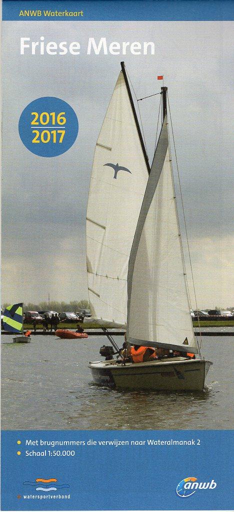 Friese Meren 1:50.000 9789018038984  ANWB ANWB Waterkaarten  Watersportboeken Friesland