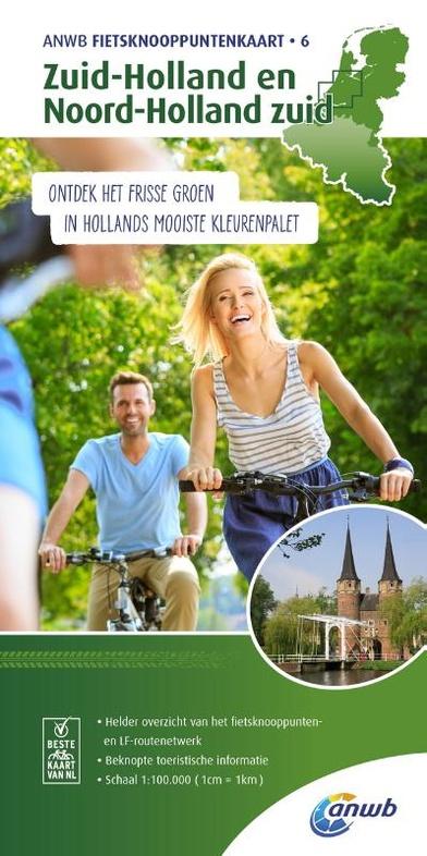 AFK-6  Zuid-Holland en Noord-Holland 1:100.000 9789018041977  ANWB ANWB - fietskaarten 100.000  Fietskaarten West Nederland
