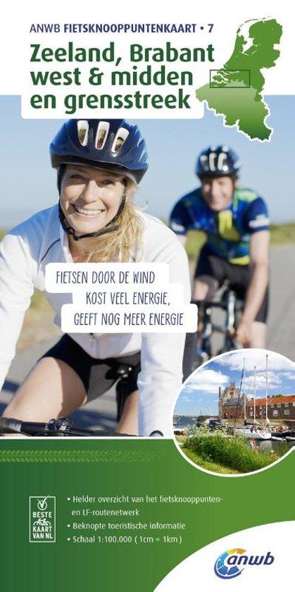 KPK-07  Zeeland, West & Midden Brabant 1:100.000 9789018041984  ANWB ANWB Knooppuntenkaarten  Fietskaarten Noord-Brabant, Zeeland