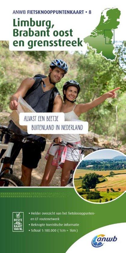 AFK-8 Limburg, Brabant oost 1:100.000 9789018041991  ANWB ANWB - fietskaarten 100.000  Fietskaarten Zuid Nederland