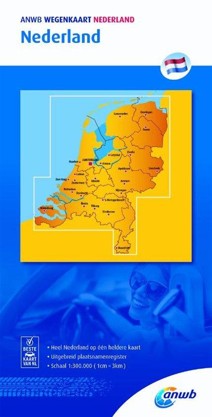 Nederland 1:300.000 9789018042042  ANWB Wegenkaarten  Landkaarten en wegenkaarten Nederland