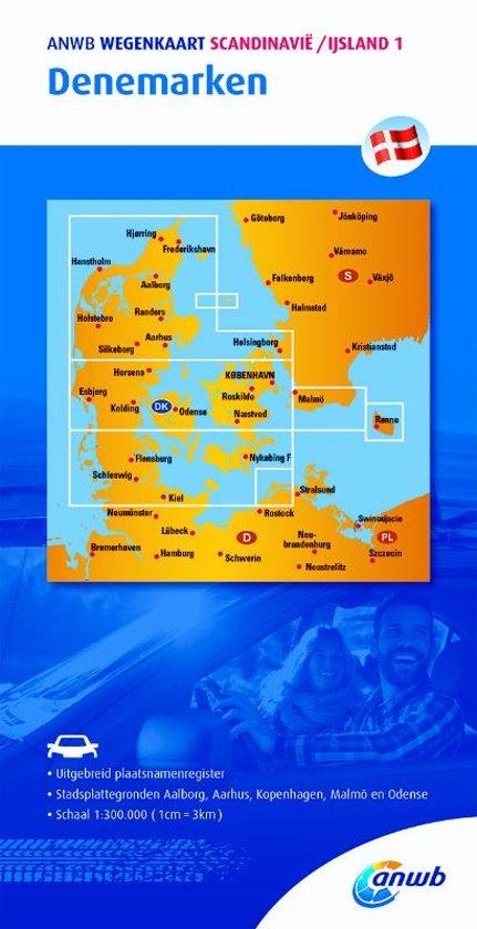 Denemarken 1:300.000 9789018042899  ANWB Wegenkaarten  Landkaarten en wegenkaarten Denemarken