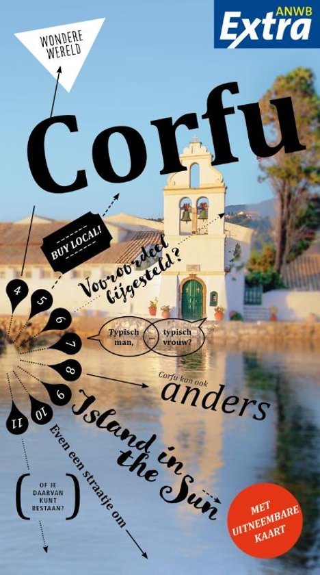 ANWB Extra reisgids Corfu 9789018044121  ANWB ANWB Extra reisgidsjes  Reisgidsen Ionische Eilanden (Korfoe, Lefkas, etc.)
