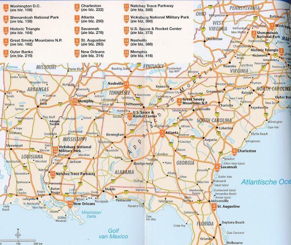 ANWB Wereldreisgids Verenigde Staten Zuidoost 9789018044633  ANWB Wereldreisgidsen  Reisgidsen VS Zuid-Oost, van Virginia t/m Mississippi