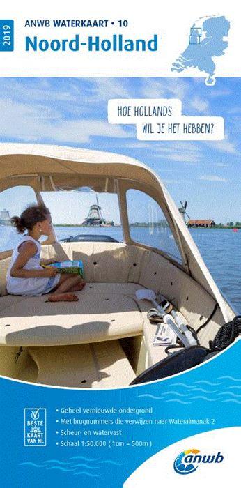 WTK-10 Noord-Holland Waterkaart 9789018044800  ANWB ANWB Waterkaarten  Watersportboeken Noord-Holland
