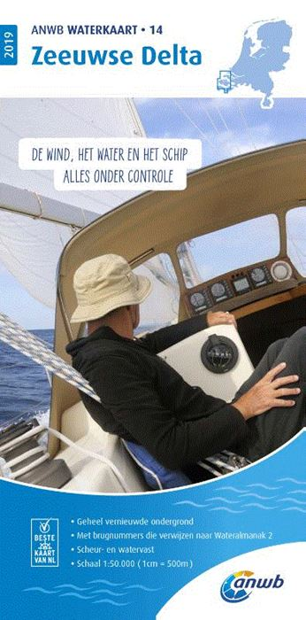 WTK-14 Zeeuwse Delta Waterkaart 9789018044848  ANWB ANWB Waterkaarten  Watersportboeken Zeeland