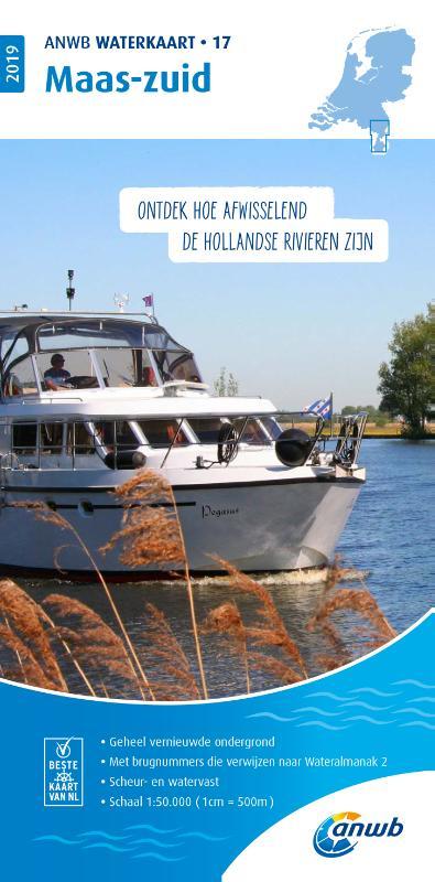 WTK-17 Maas - zuid Waterkaart 9789018044879  ANWB ANWB Waterkaarten  Watersportboeken Maastricht en Zuid-Limburg