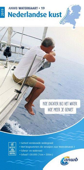 WTK-19  Nederlandse Kust Waterkaart 9789018044893  ANWB ANWB Waterkaarten  Watersportboeken Nederland