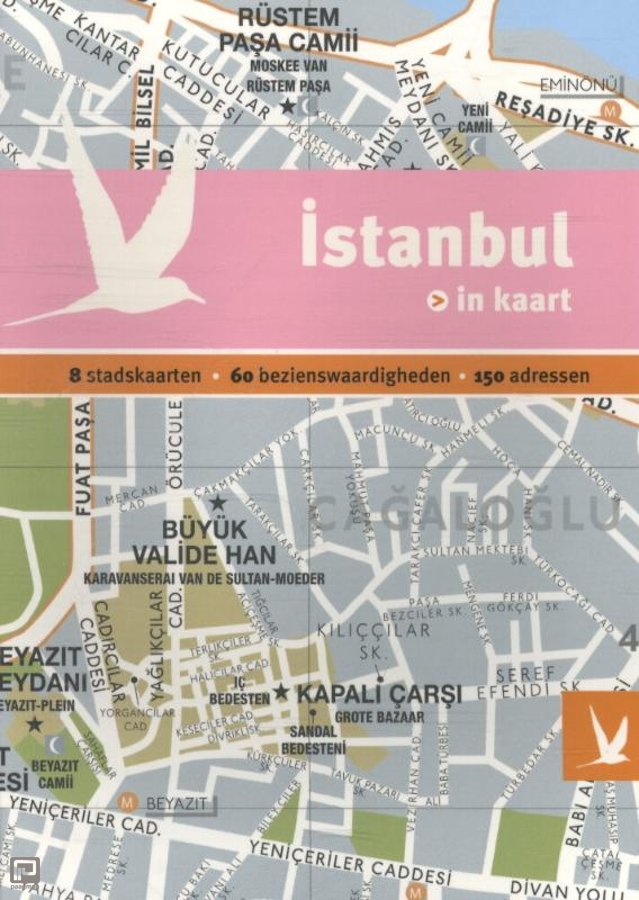 Istanbul 9789025756574  Gottmer Dominicus Stad-in-Kaart  Reisgidsen Europees Turkije met Istanbul