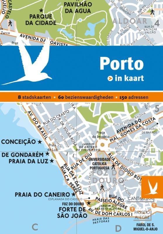 Porto in kaart 9789025763060  Gottmer Dominicus Stad-in-Kaart  Reisgidsen Noord en Midden-Portugal, Lissabon