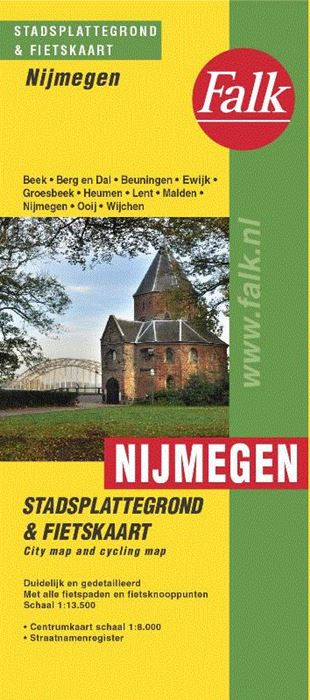 Stadsplattegrond Nijmegen 9789028707849  Falk Pl.g. binnenland  Stadsplattegronden Nijmegen en het Rivierengebied