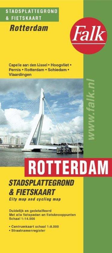 Stadsplattegrond Rotterdam, klein 9789028707863  Falk Pl.g. binnenland  Stadsplattegronden Den Haag, Rotterdam en Zuid-Holland