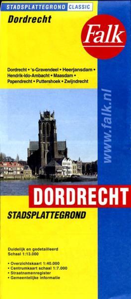 Stadsplattegrond Dordrecht 9789028707955  Falk Pl.g. binnenland  Stadsplattegronden Den Haag, Rotterdam en Zuid-Holland