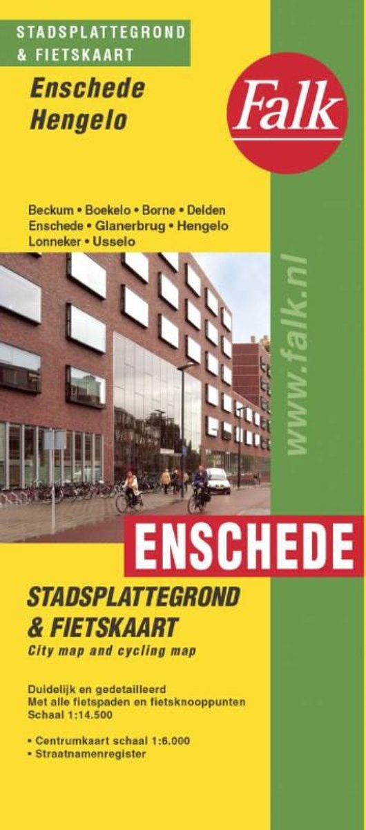 Stadsplattegrond Enschede, Hengelo 9789028708464  Falk Pl.g. binnenland  Stadsplattegronden Twente