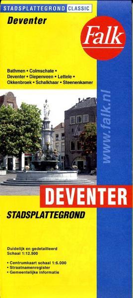 Stadsplattegrond Deventer 9789028709126  Falk Pl.g. binnenland  Stadsplattegronden Kop van Overijssel, Vecht & Salland