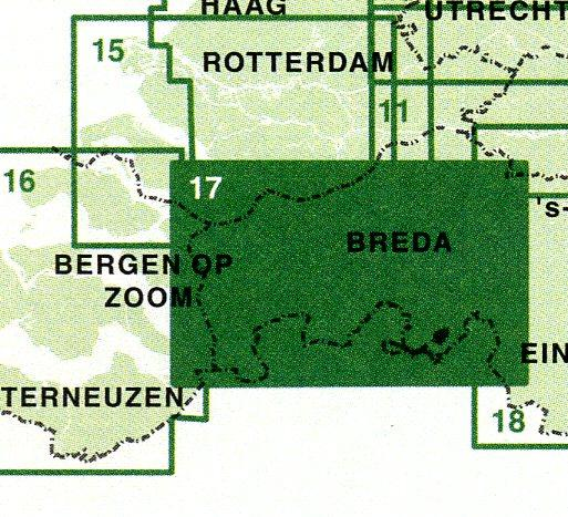 FFK-17  West en Midden Brabant | VVV fietskaart 1:50.000 9789028725003  Falk Fietskaarten met Knooppunten  Fietskaarten Noord-Brabant